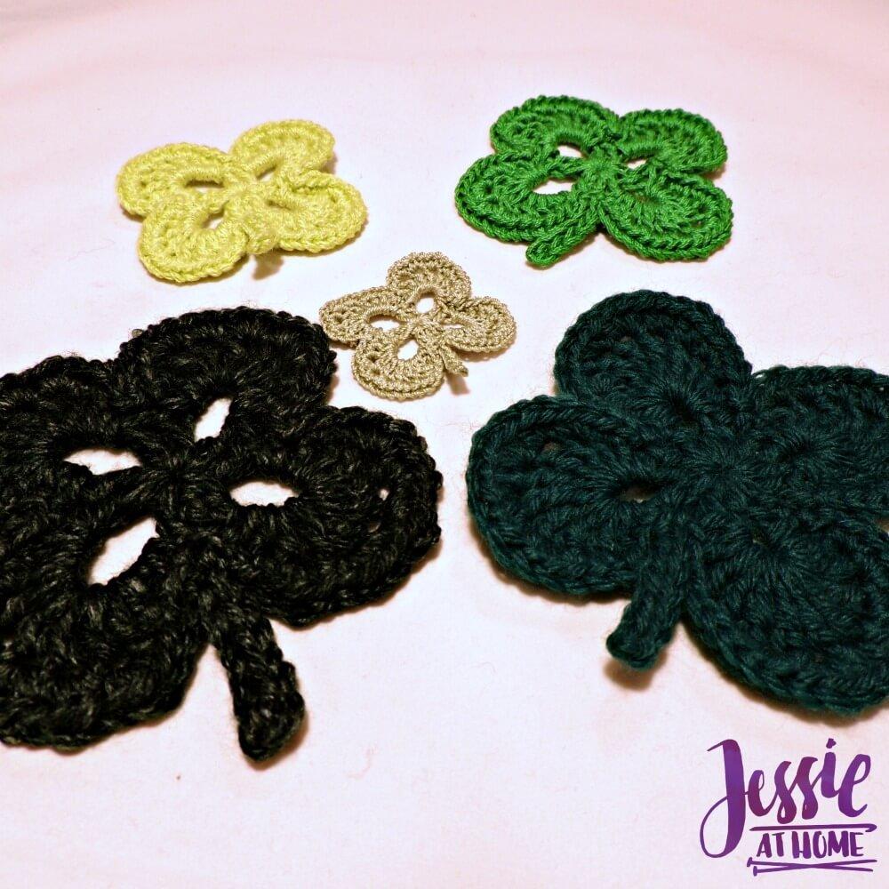 Four Leaf Clover free crochet pattern by Jessie At Home - 2