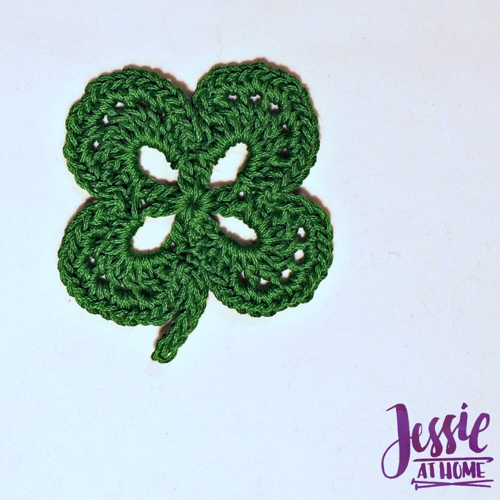 Four Leaf Clover free crochet pattern by Jessie At Home - 6