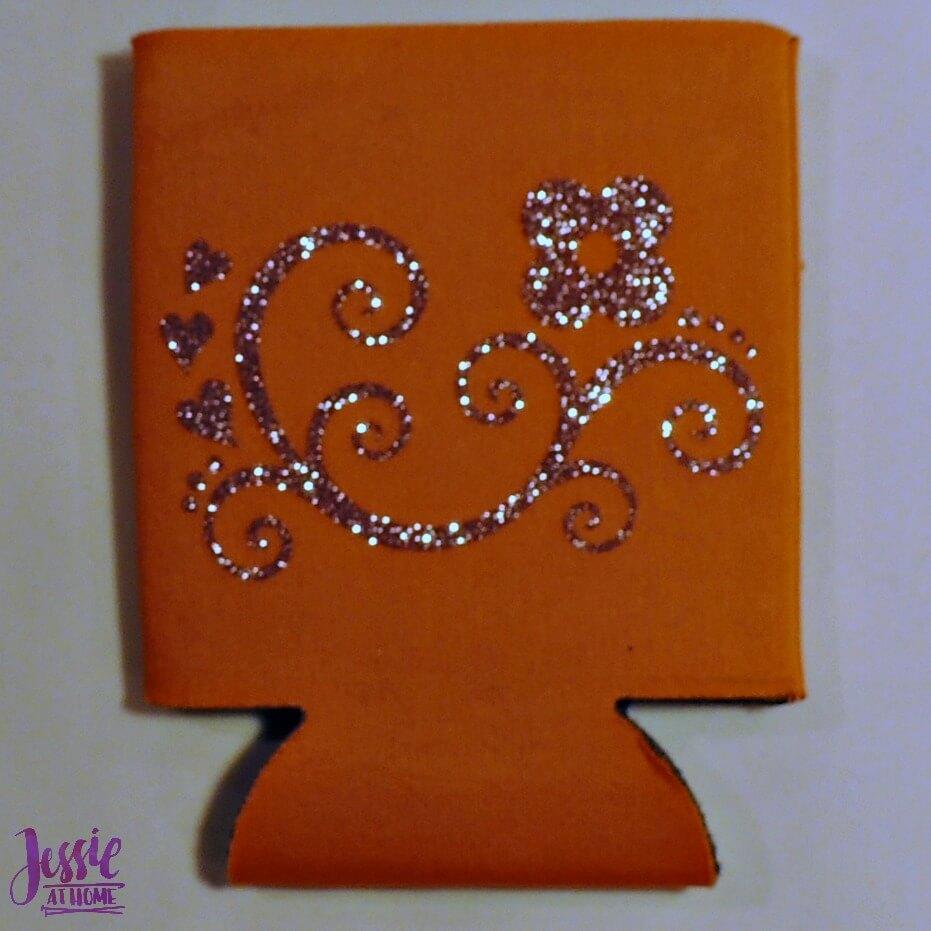 Happy Crafter Glitter Vinyl Koozie by Jessie At Home - 7