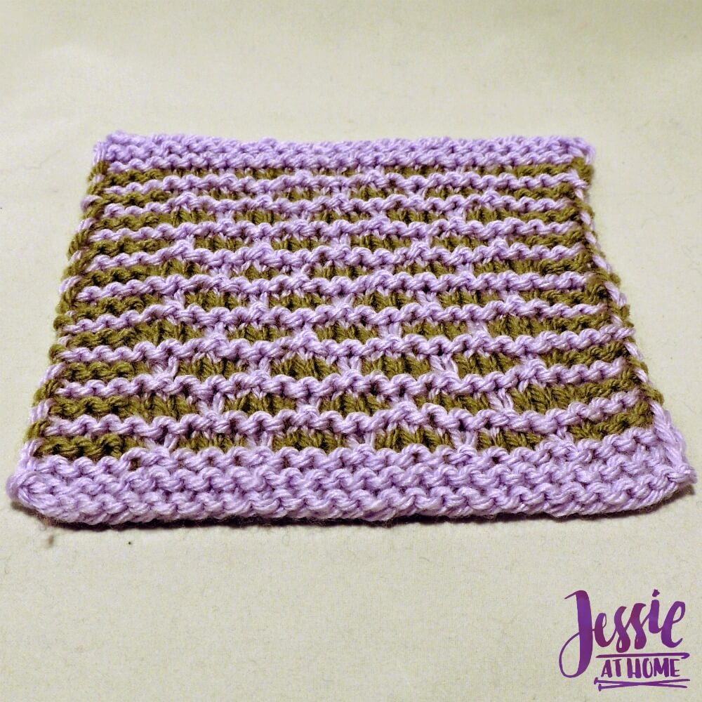 Little Brick Square - free knit pattern by Jessie At Home - 2