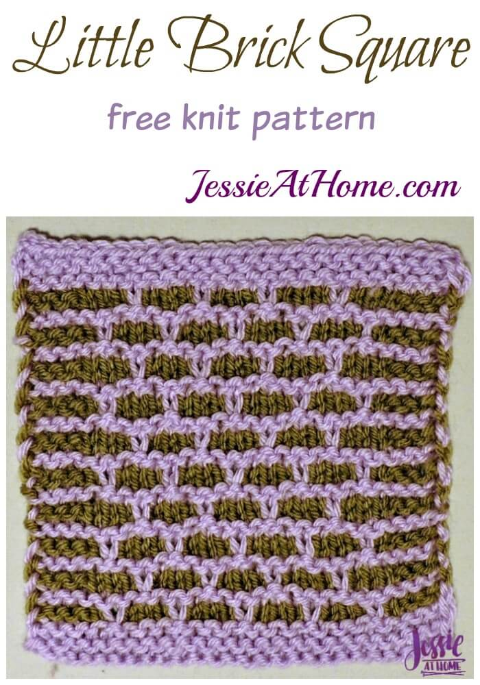 Little Brick Square - free knit pattern by Jessie At Home