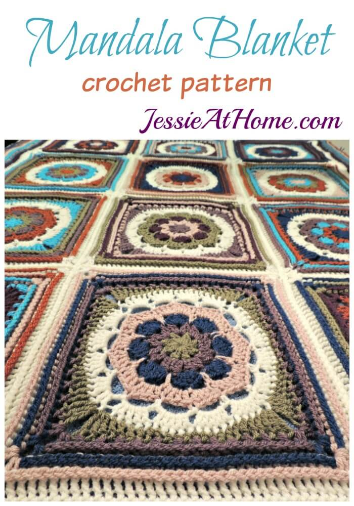 Mandala Blanket crochet pattern by Jessie At Home