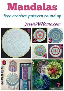Mandalas free crochet pattern round up from Jessie At Home