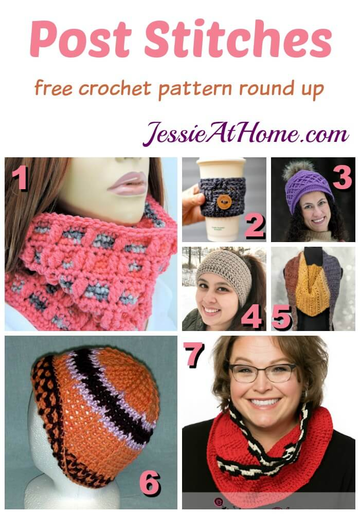 Post Stitches - free crochet pattern round up from Jessie At Home