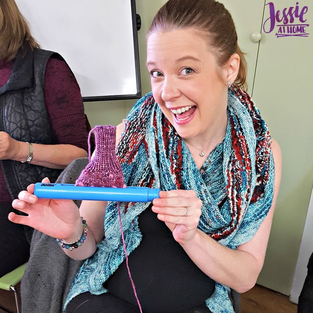 Susan Bates Extendable Stitch Holder review from Jessie At Home - 8