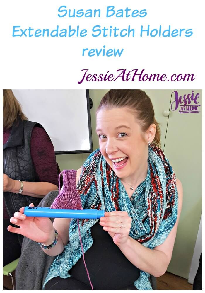 Susan Bates Extendable Stitch Holder review from Jessie At Home