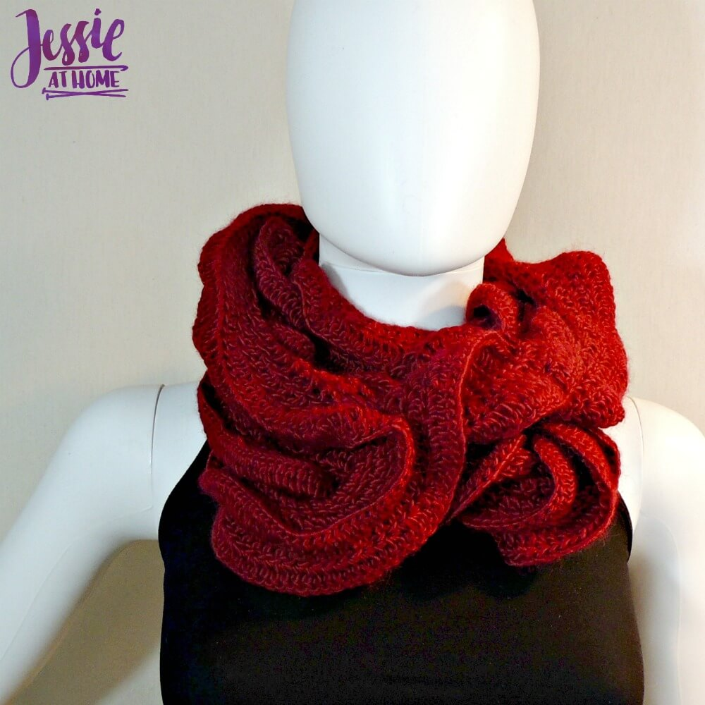 Ruffle Scarf Crochet Pattern Magnificent Decorating Design