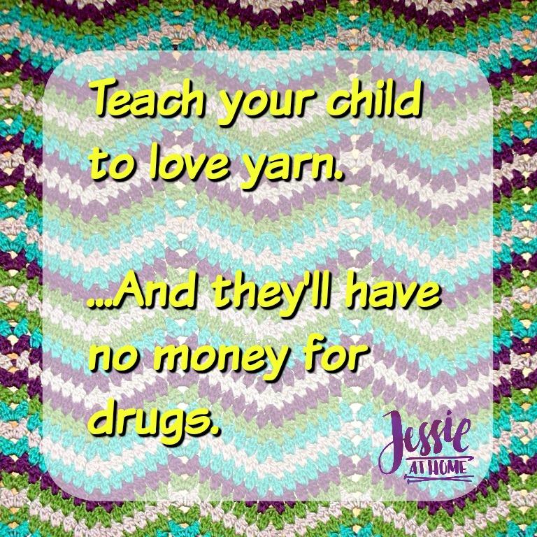 Drug-free yarn