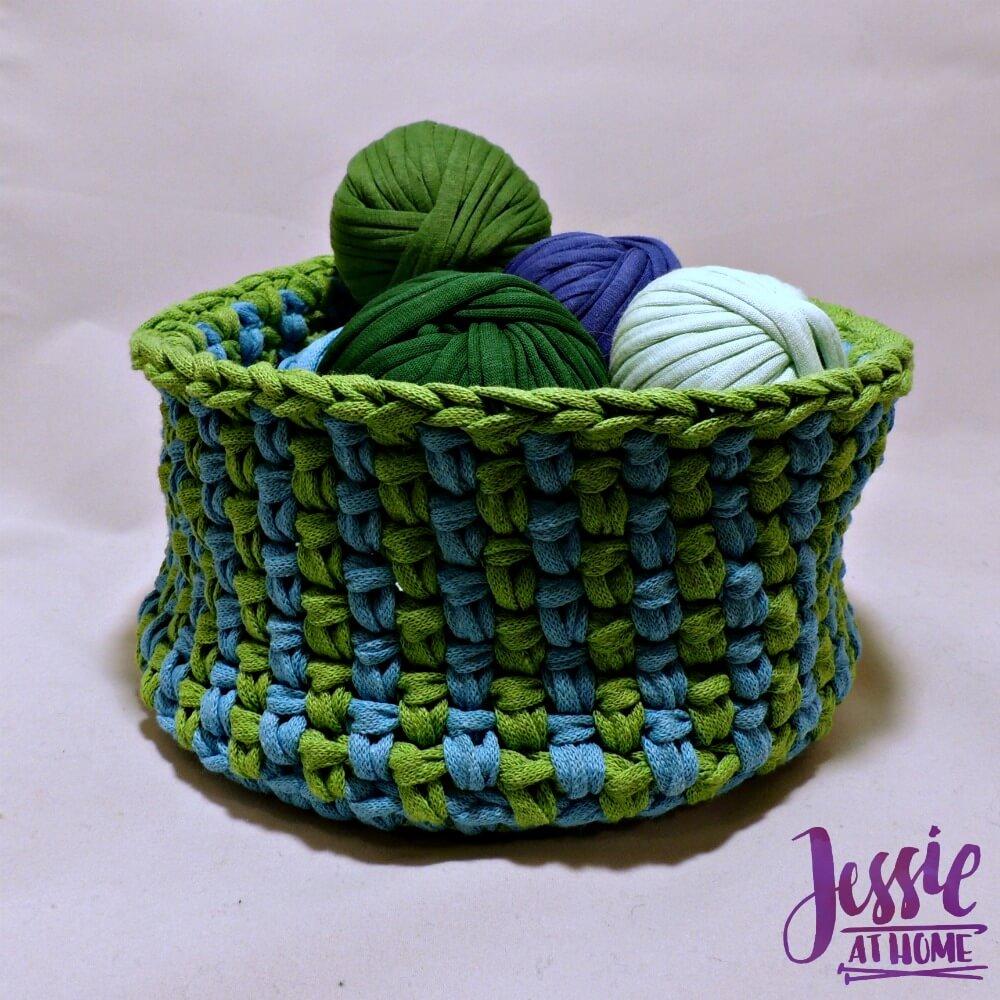 Linen Stitch Basket free crochet pattern by Jessie At Home - 3