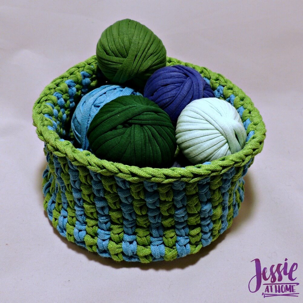 Linen Stitch Basket free crochet pattern by Jessie At Home - 4