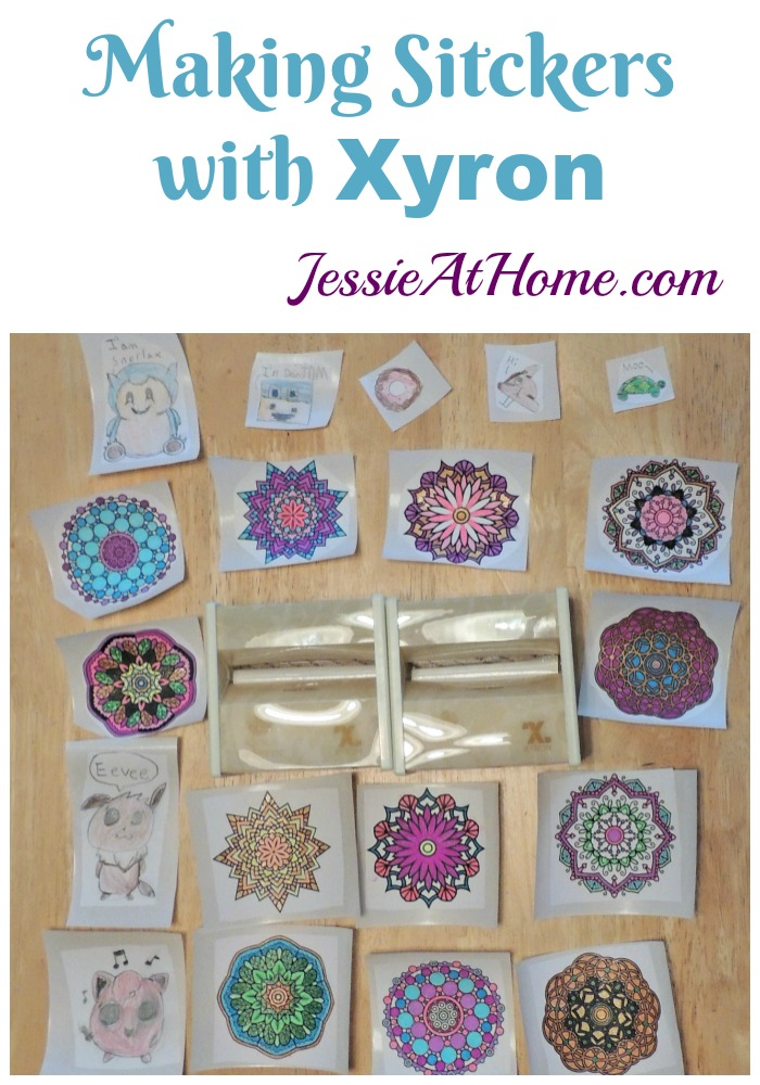 Making Stickers with Xyron from Jessie At Home