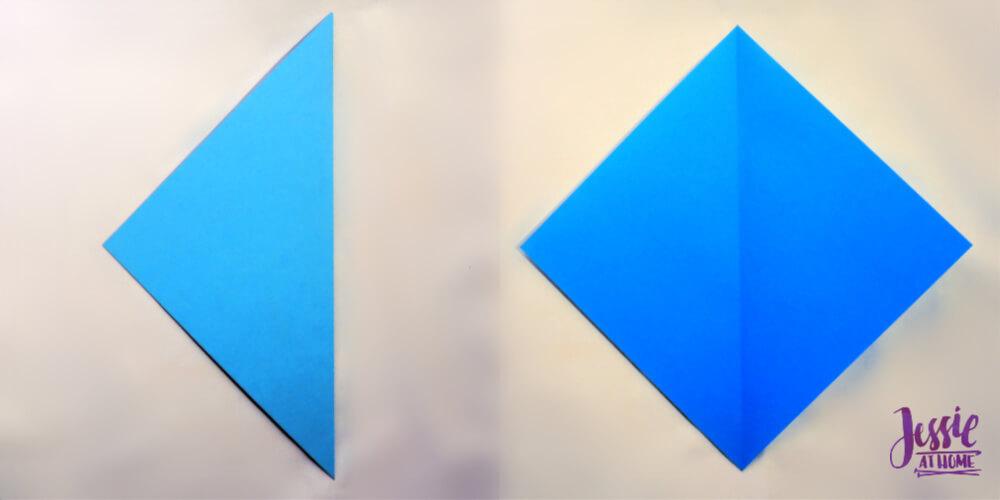 Origami Kite Base Tutorial by Jessie At Home - Step 1