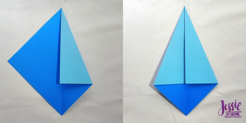 Origami Kite Base Tutorial by Jessie At Home - Step 2