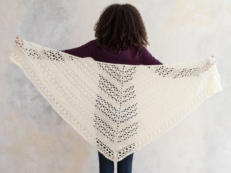 Sprightly Wrapped in Warmth Craftsy Crochet Shawl Kit