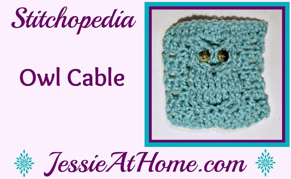 Stitchopedia Owl Cable from Jessie At Home - cover
