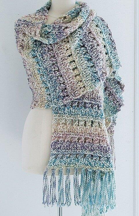 Homespun Comfort Shawls Broomstick Lace Shawl