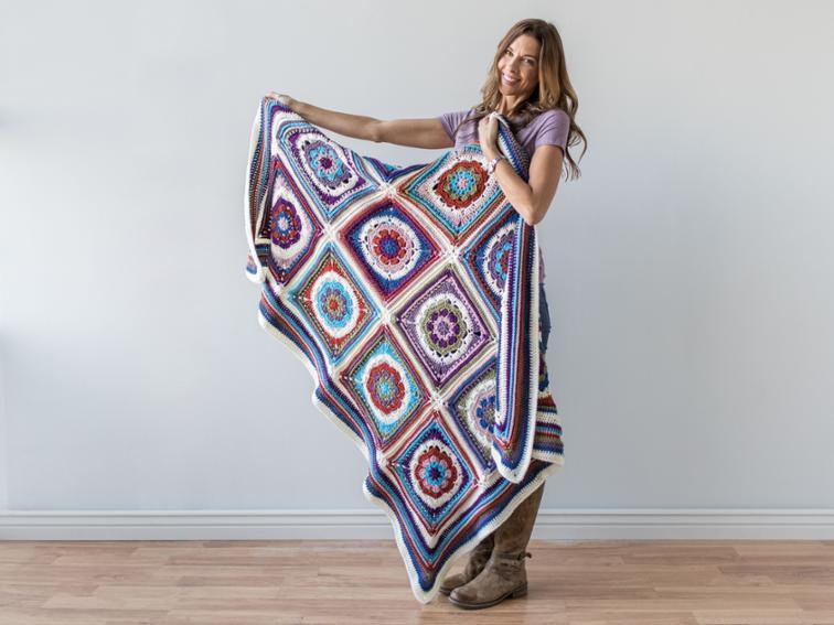Mandala Blanket Craftsy Crochet Kit
