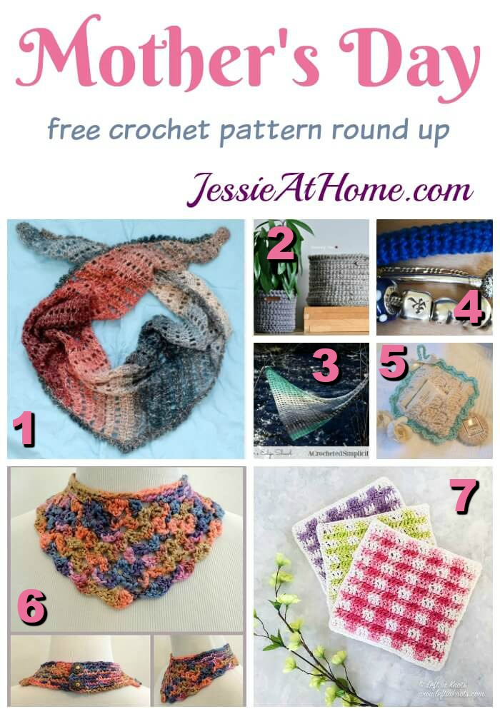 Mother's Day - free crochet pattern round up from Jessie At Home