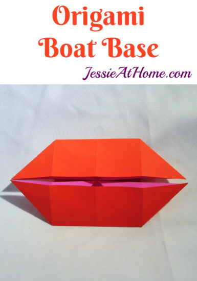 Origami Boat Base Tutorial by Jessie At Home