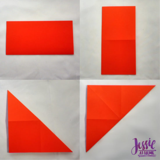 Origami Boat Base Tutorial by Jessie At Home - Step 1a