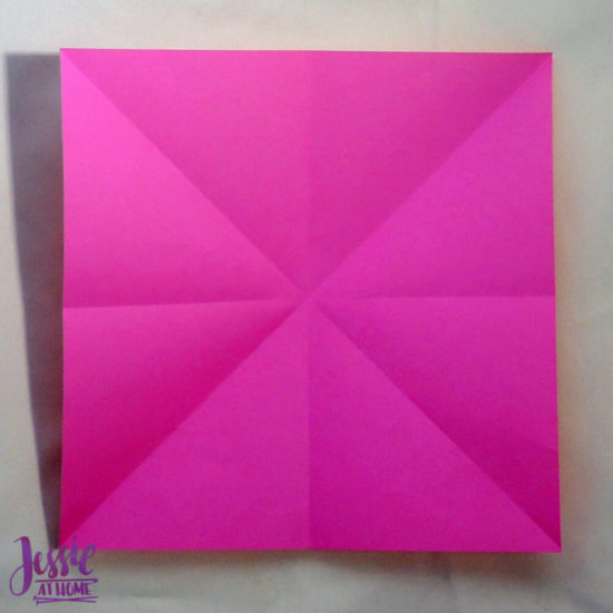 Origami Boat Base Tutorial by Jessie At Home - Step 1b