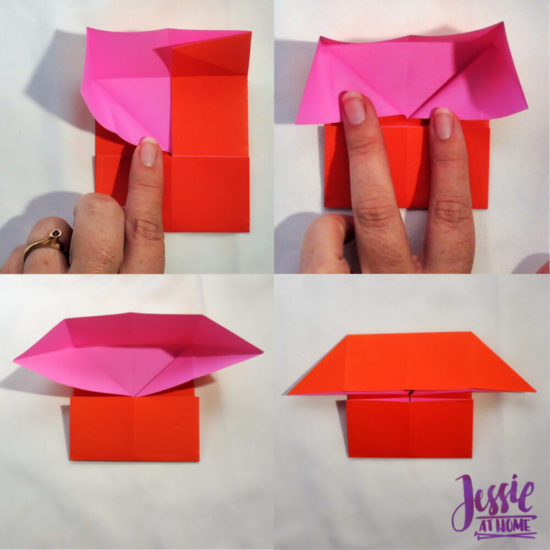 Origami Boat Base Tutorial by Jessie At Home - Step 4