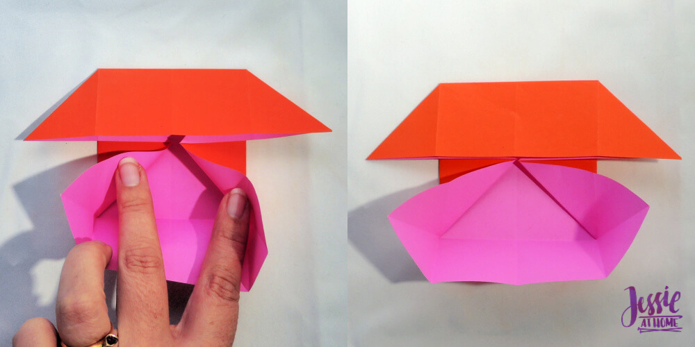 Origami Boat Base Tutorial by Jessie At Home - Step 5
