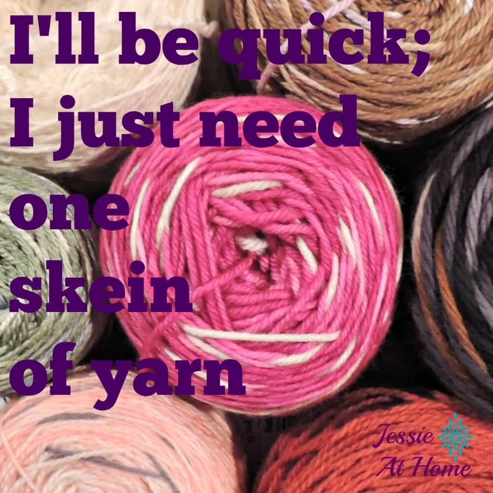 Said no crocheter ever.