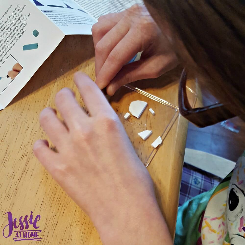 Vada creating with Sculpey