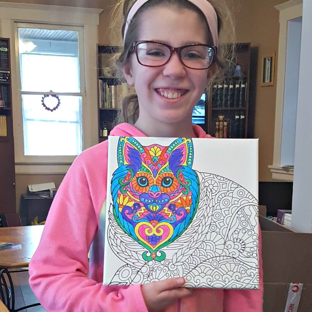 Canvas Art kits Kyla Coloring