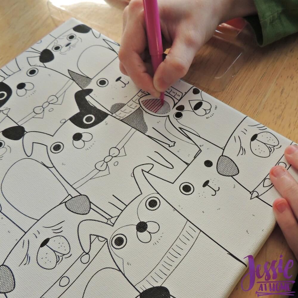 Canvas Art kits Vada coloring
