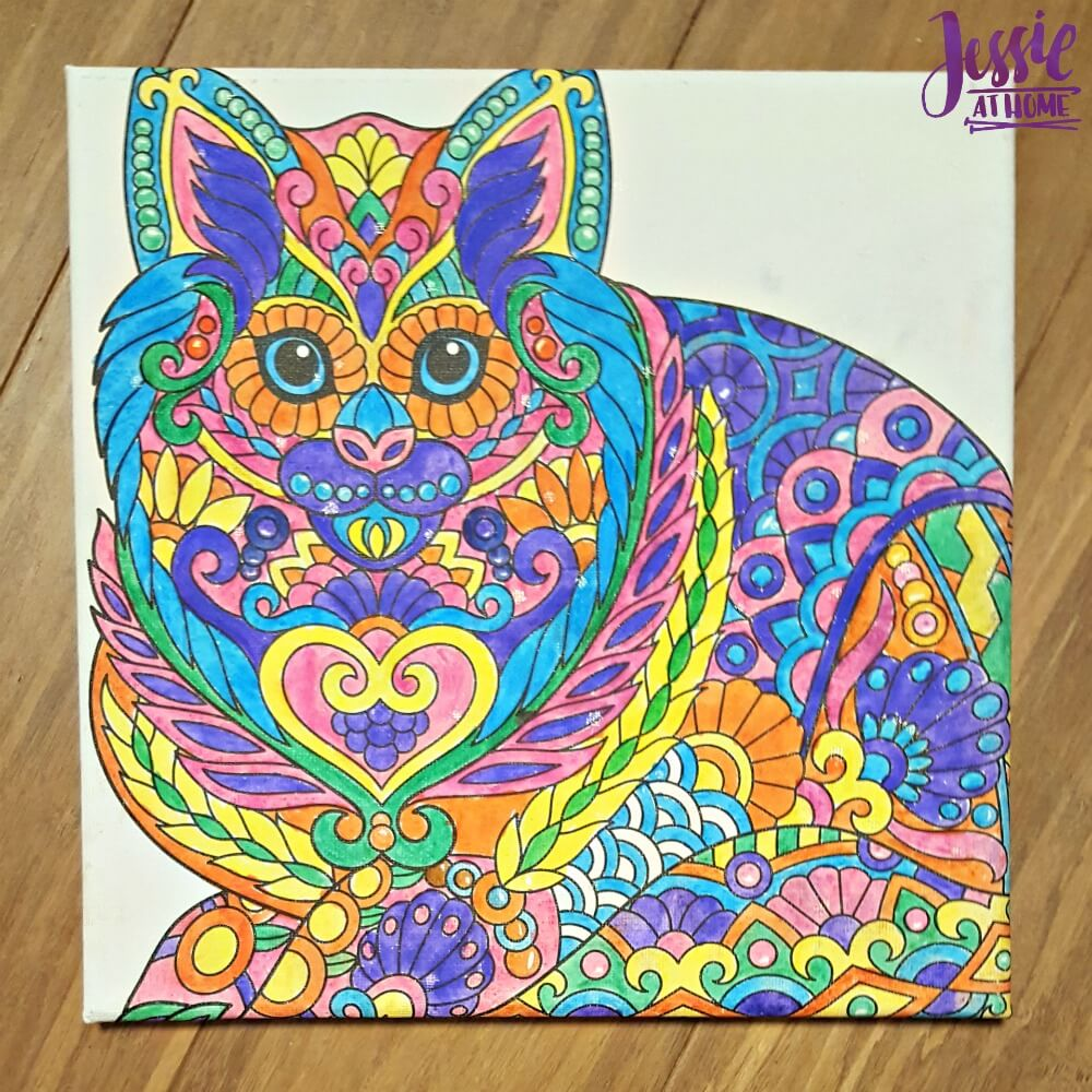 Canvas Art kits colored cat