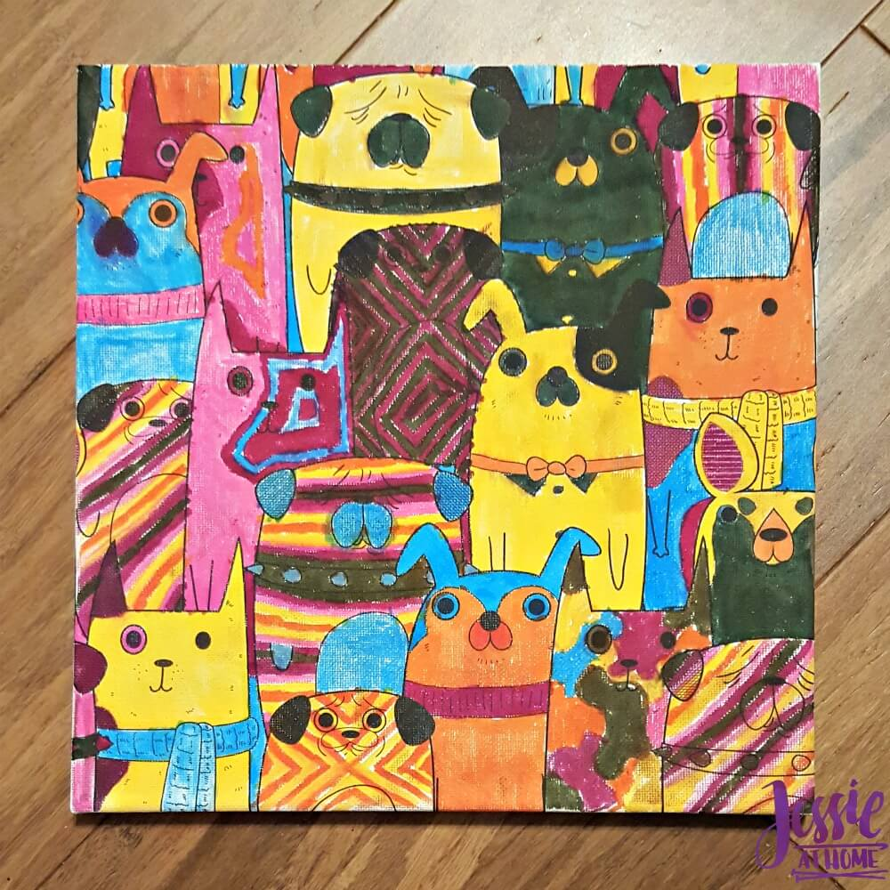 Canvas Art kits colored dogs