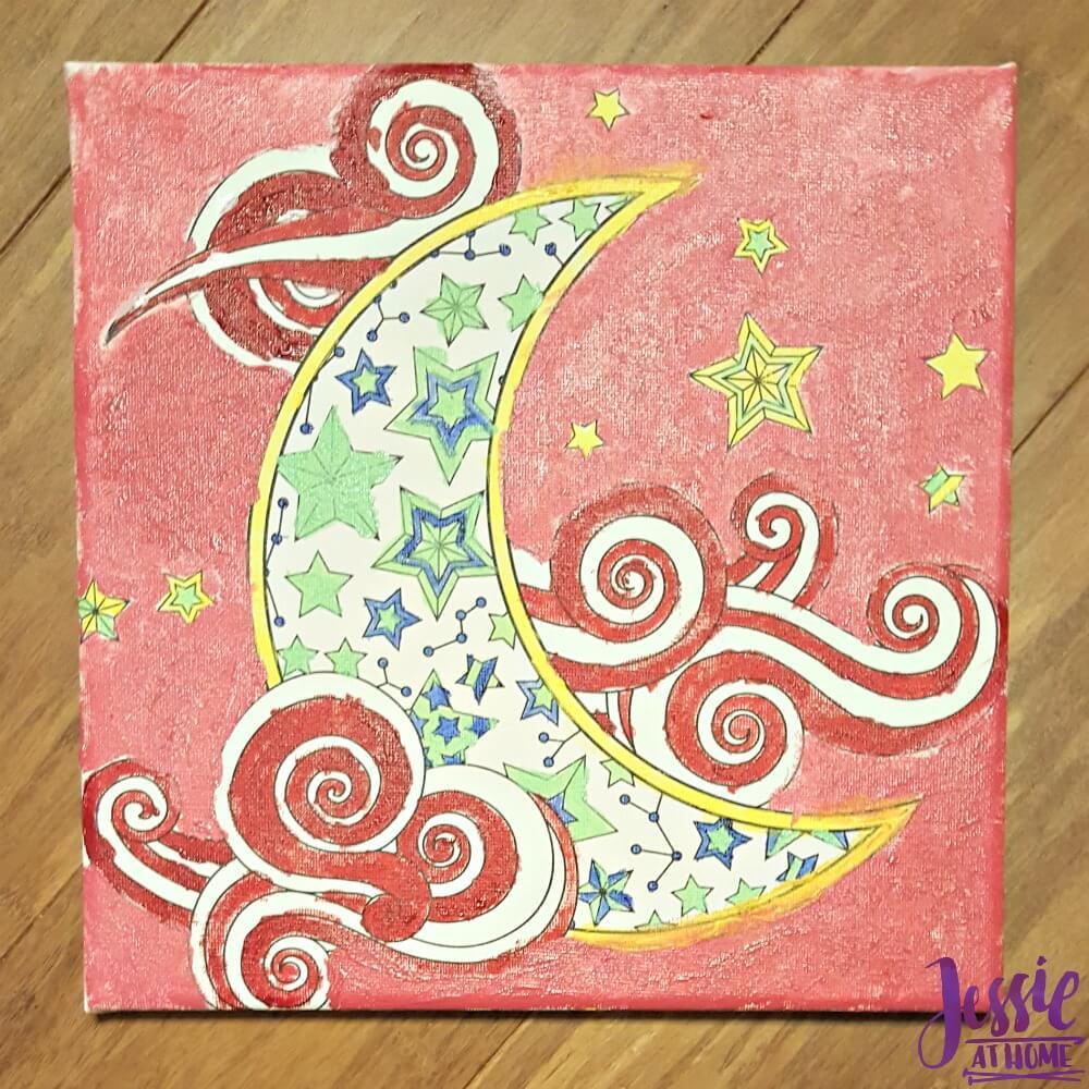 Canvas Art kits painted moon