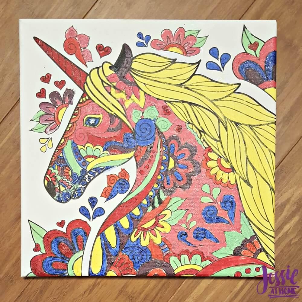 Canvas Art kits painted unicorn