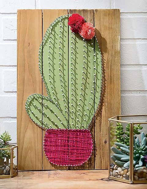 Cool String Art Cactus