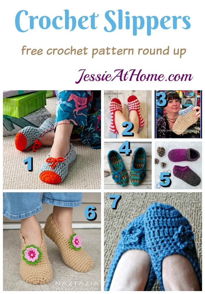 Cozy And Warm Crochet Slippers 7 Hot Patterns Jessie At Home