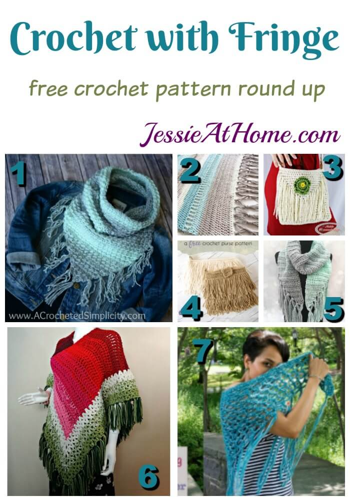 Crochet with Fringe free crochet pattern round up from Jessie At Home