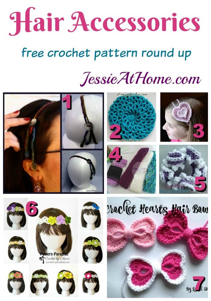 Warm Weather Hair Accessory Crochet Patterns Round Up Jessie At Home