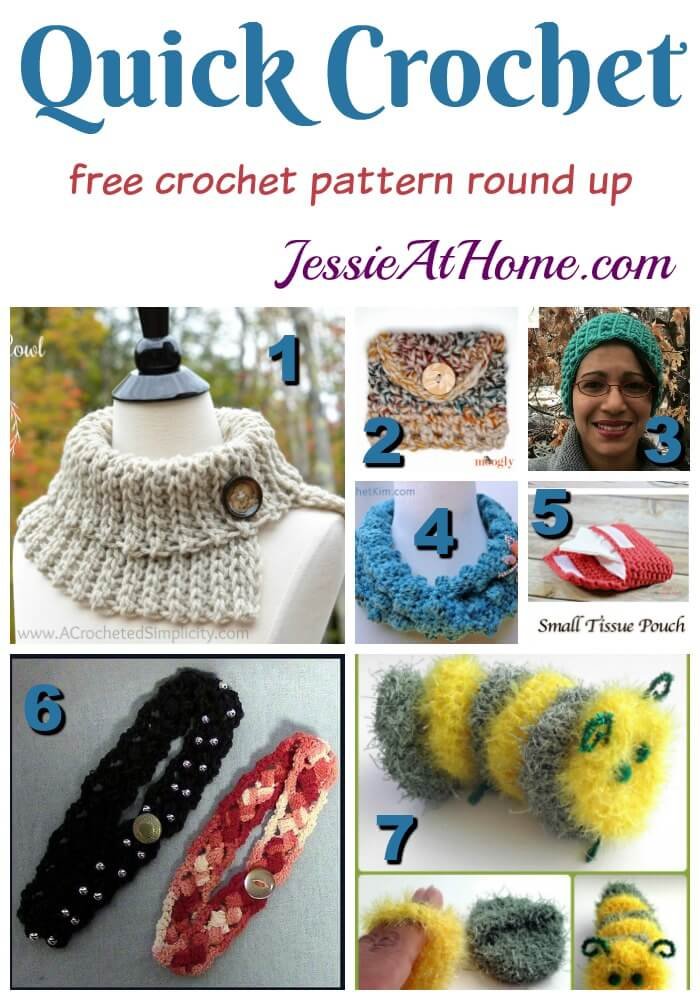 Quick Crochet free crochet pattern round up from Jessie At Home