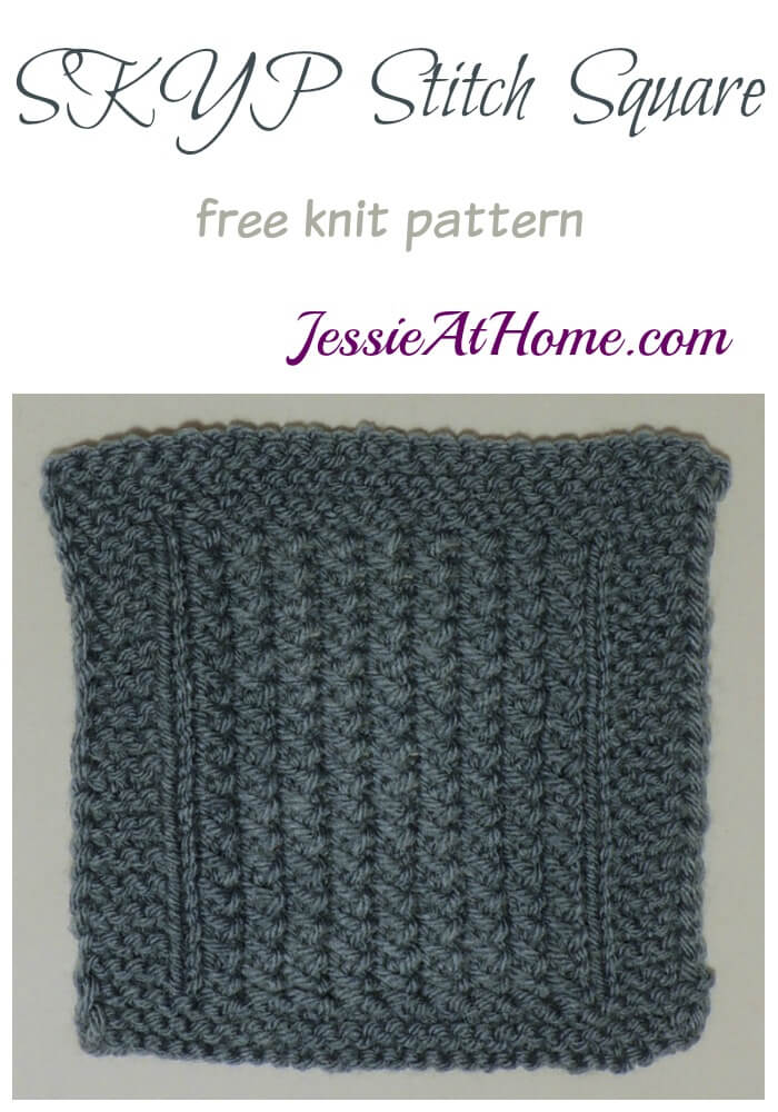 SKYP Stitch Square - free knit pattern by Jessie At Home