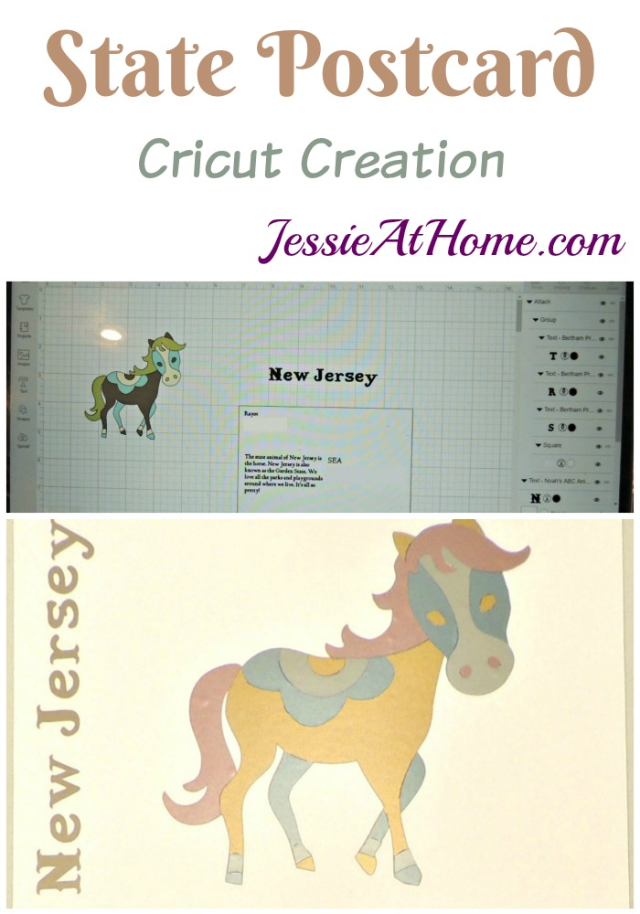 State Postcard Cricut Creation by Jessie At Home