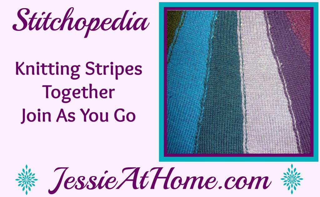 Stitchopedia Knitting Stripes Together Join As You Go - Cover