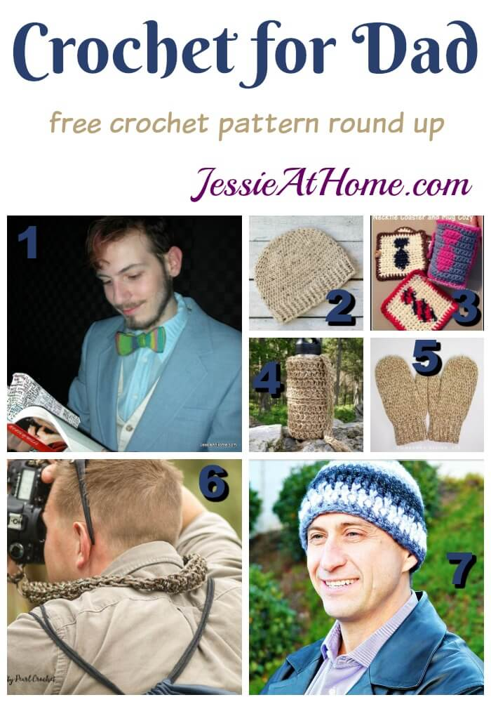 Father's Day Crochet Gifts free crochet pattern round up from Jessie At Home