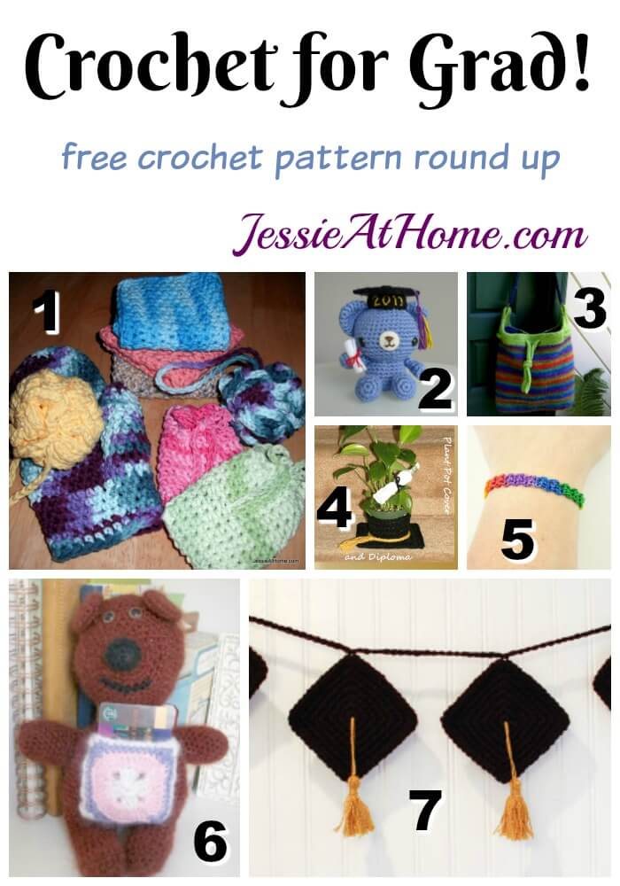 Crochet for Grad free crochet pattern round up from Jessie At Home