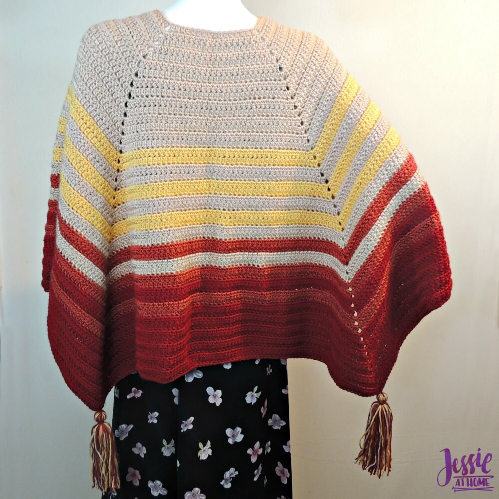 Harvest Poncho free crochet pattern by Jessie At Home - 2