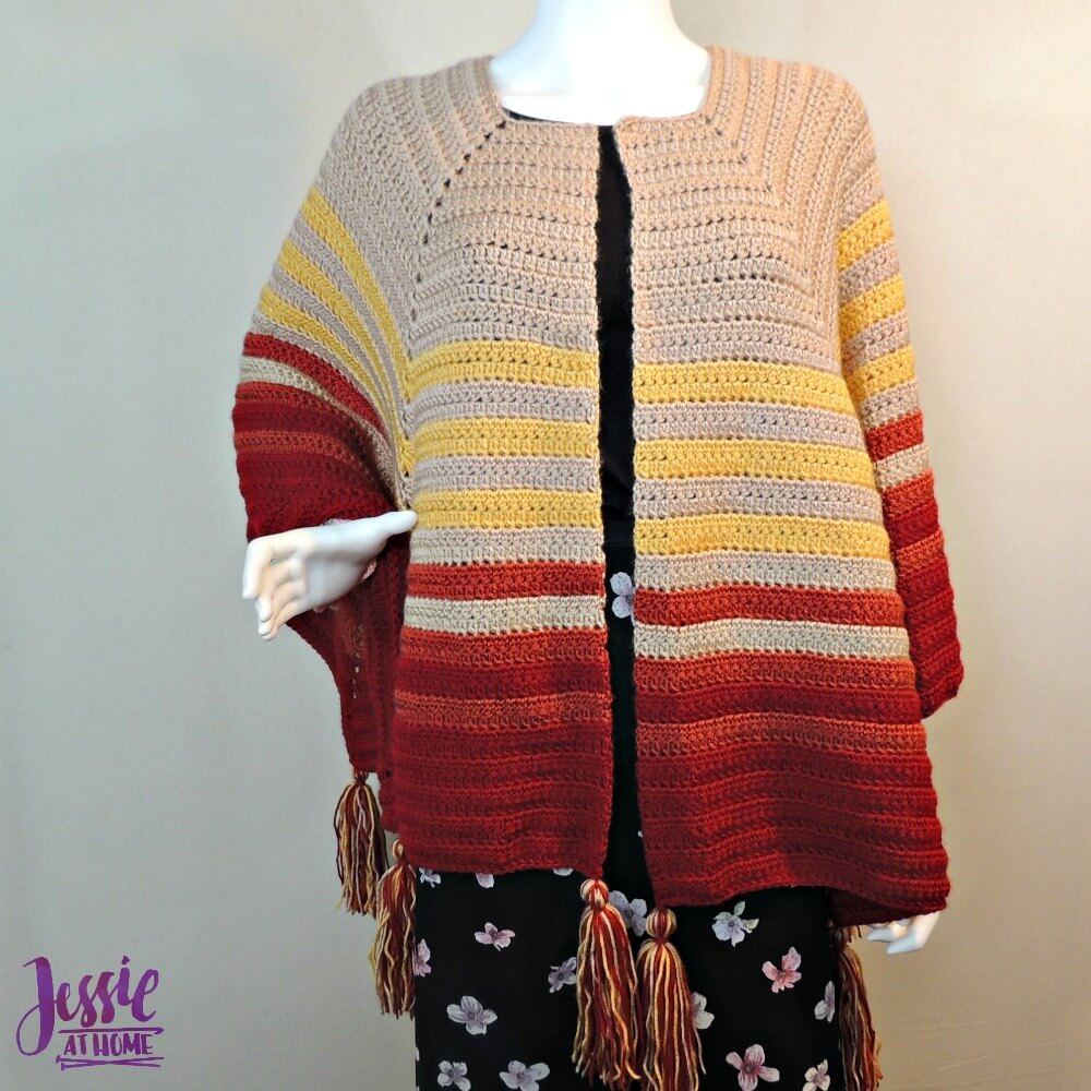 Harvest Poncho free crochet pattern by Jessie At Home - 3