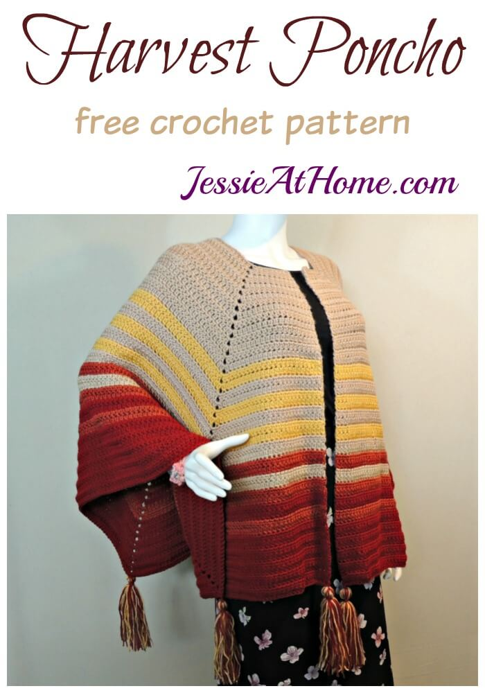 Harvest Poncho free crochet pattern by Jessie At Home