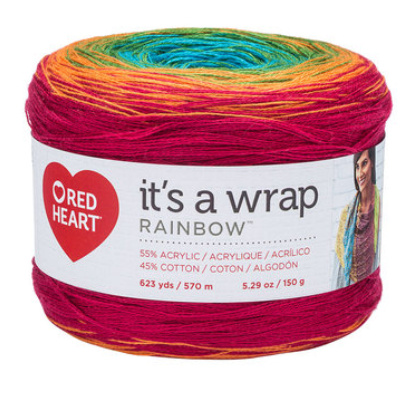 It's a Wrap Rainbow Red Heart