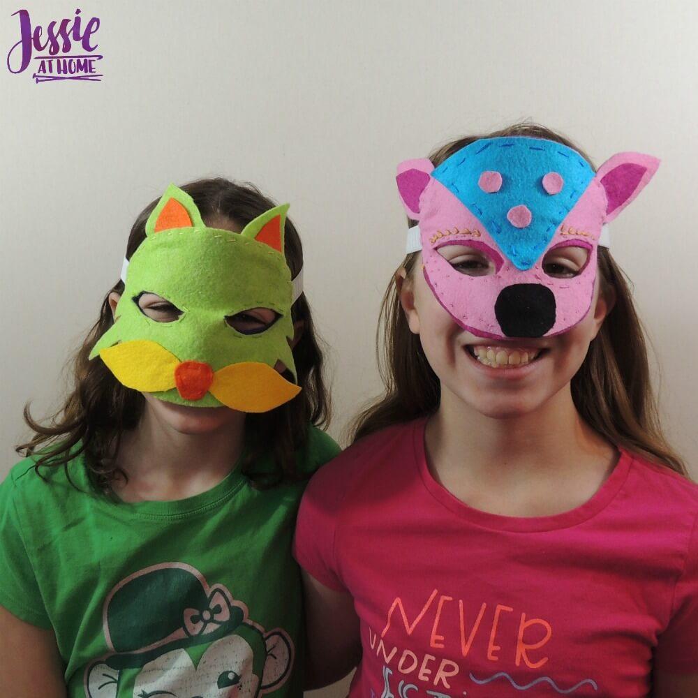 Kids Felt Cuties fun masks